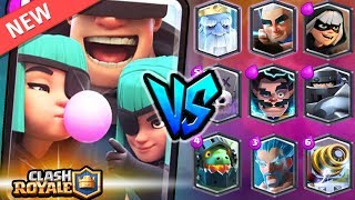 ¡PILLOS vs TODAS LAS LEGENDARIAS! ÉPICOS ENFRENTAMIENTOS | CLASH ROYALE 1v1 *LUCC*
