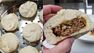Easy Steamed Buns Recipe   Beef Steamed Buns Recipe   Homemade Baozi Recipe