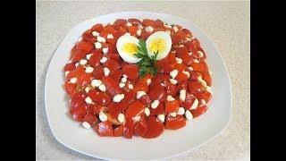Салат из овощей и рыбы. Вкусный салат!