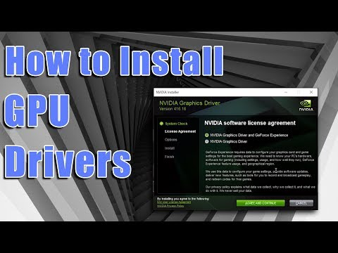 How To: Install NVIDIA GeForce Drivers