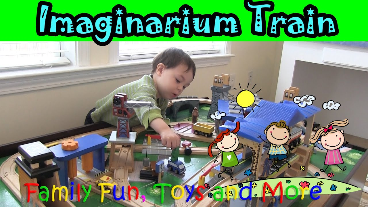 ♥ IMAGINARIUM City Central Train Table Set Fun with Liam and Jessa ...