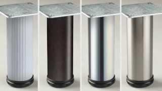4 Inch Metal Como Table Leg - Replacementtablelegs.com