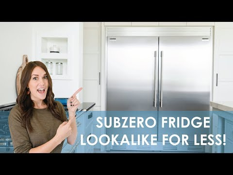 Sub Zero lookalike fridge for 1/3 the price! | Frigidaire Side by Side Review