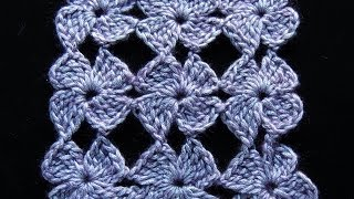 Crochet : Flor de 4 Petalos.  Parte 1 de...