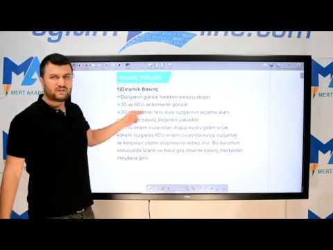 Eğitim10line Coğrafya - Coğrafya Basınç (İklim Elemanları) Konu Anlatımı ( Necati Mert)