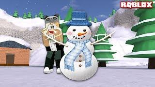 Kardan Adam Oluyoruz!! - Panda ile Roblox Sno Day