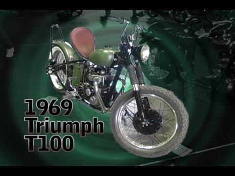 Clymer Manuals 1969 Triumph T100 Vintage Retro Restored Classic Rigid Chopper Video
