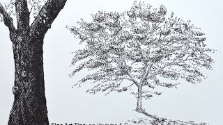 How to Draw a Tree With Brush Pens - An Oak Tree - How to Draw Trees