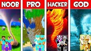 Minecraft NOOB vs PRO vs HACKER vs GOD: FAMILY TORNADO in Minecraft Animation