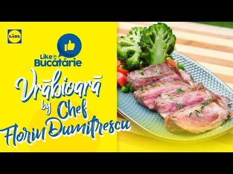 Vrabioara la gratar cu sote de mazare si broccoli • Reteta Chef Florin Dumitrescu