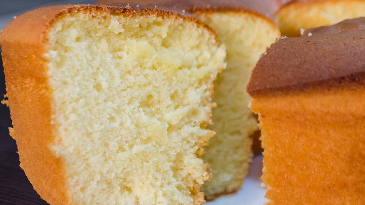 Bizcocho esponjoso - Receta de Torta de Vainilla super fácil