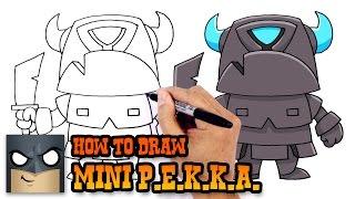 How to Draw Mini P.E.K.K.A. | Clash Royale