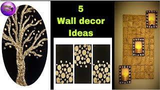 5 Diy Room Decor ideas | craft ideas | waste material crafts | art and crafts