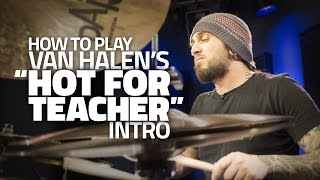 "How To Play Van Halen's ""Hot For Teacher"" Intro (DRUMEO LESSON)"