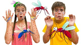 Nastya vs mosquitoes in our house