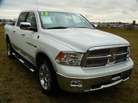 used truck maryland 2012 dodge ram 1500 laramie 4wd crew cab youtube. Black Bedroom Furniture Sets. Home Design Ideas