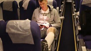 Баскетболисты ЦСКА используют специальные носки во время перелетов