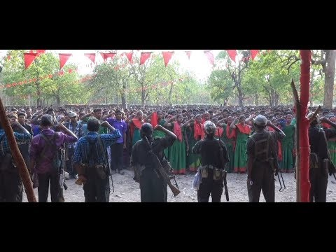 Thousands of people gather in  bastar on the occassion of Naxalbari celebrations