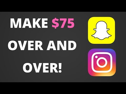 How to Make $75 OVER AND OVER AGAIN With Snapchat and Instagram Photos!