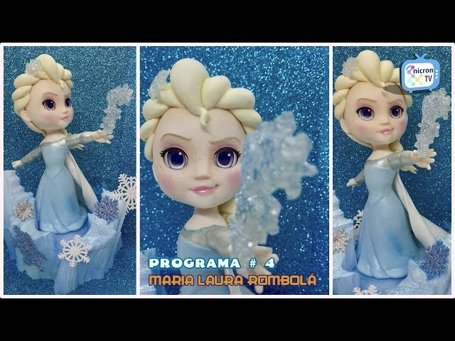NICRON TV - Como modelar Elsa (Frozen) por Maria Laura Rombolá