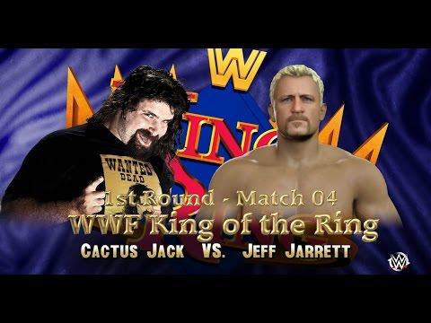 WWF KING OF THE RING: 1st Round | Match 04 | Cactus Jack VS Jeff Jarrett [WWE 2K16 Gameplay ]