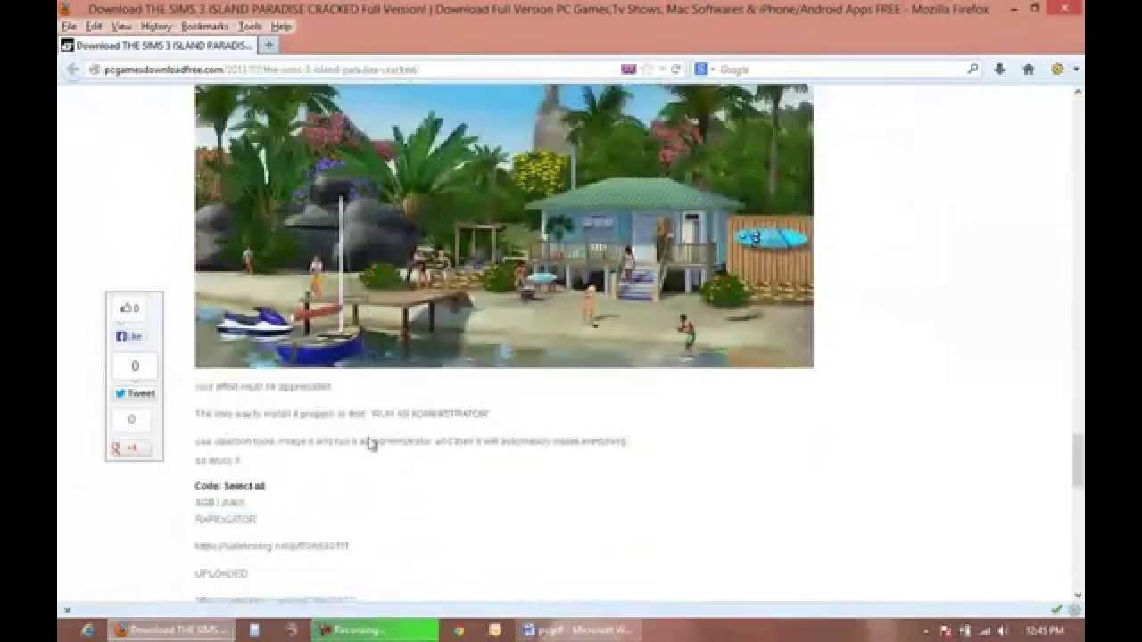 sims 3 island paradise download free mac