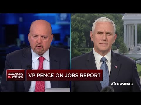 VP Mike Pence: Coronavirus recovery aid talks will continue despite big May jobs gains