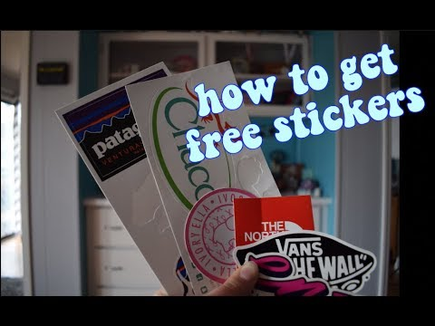 how to get free stickers from companies | m&m studios