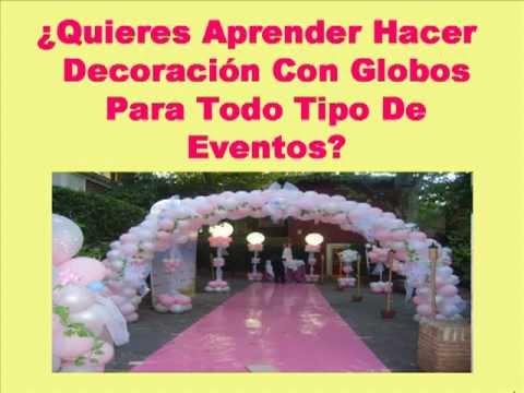 Aprende hacer decoracion con globos para 15 a os xv a os for Decoracion de pared para quince anos