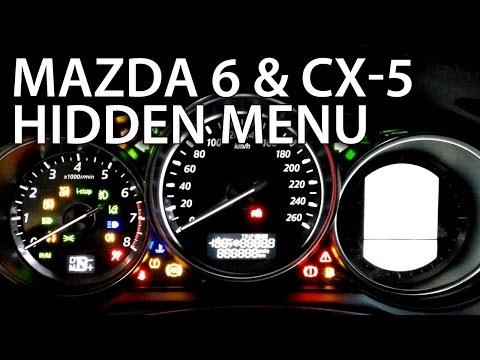 How To Enter Mazda CX-5 & 6 3rd Gen. Hidden Test Menu (instrument Cluster Service Mode)