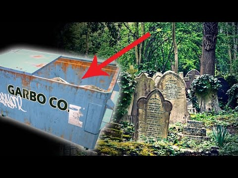DUMPSTER DIVING AT A CEMETERY - MAY UPSET YOU!