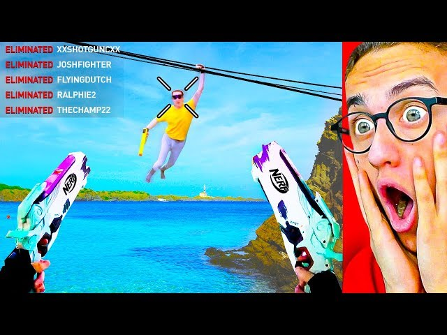 Playing EXTREME NERF VIDEO GAMES in Real Life!