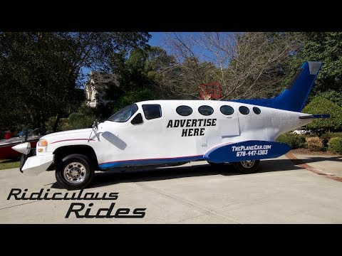 Genius Car Designer Builds 32ft Long Plane Car | RIDICULOUS RIDES