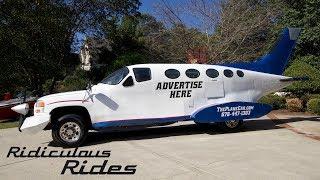 Genius Car Designer Builds 32ft Long 'Plane Car' | RIDICULOUS RIDES