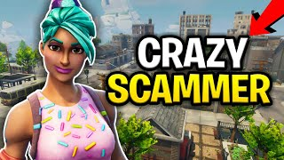 Crazy Weird Kid Loses Rich Inventory! (Scammer Get Scammed) Fortnite Save The World