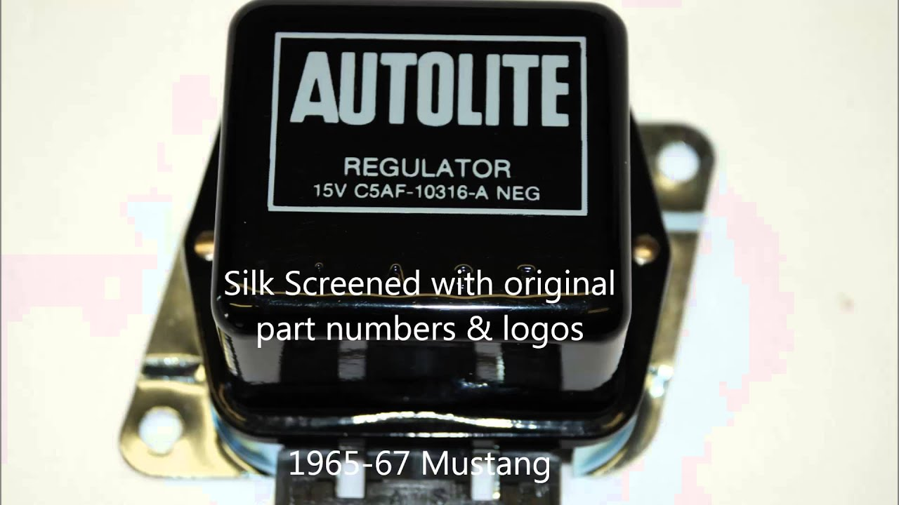 1965 1973 mustang voltage regulators reproductions by