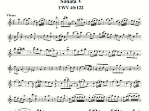 Telemann: canonic sonata 5/6 - TWV 40:122, on recorder