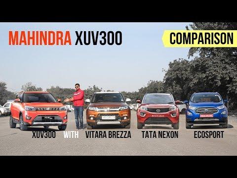 Mahindra XUV300 Vs Vitara Brezza, Nexon, Ecopsort, WR-V - Feature Comparison
