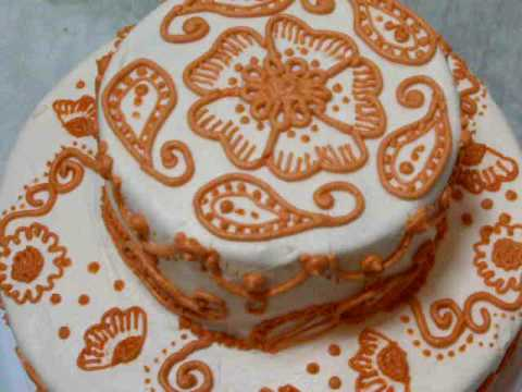 Mehndi Cake Tutorial : Henna cake youtube