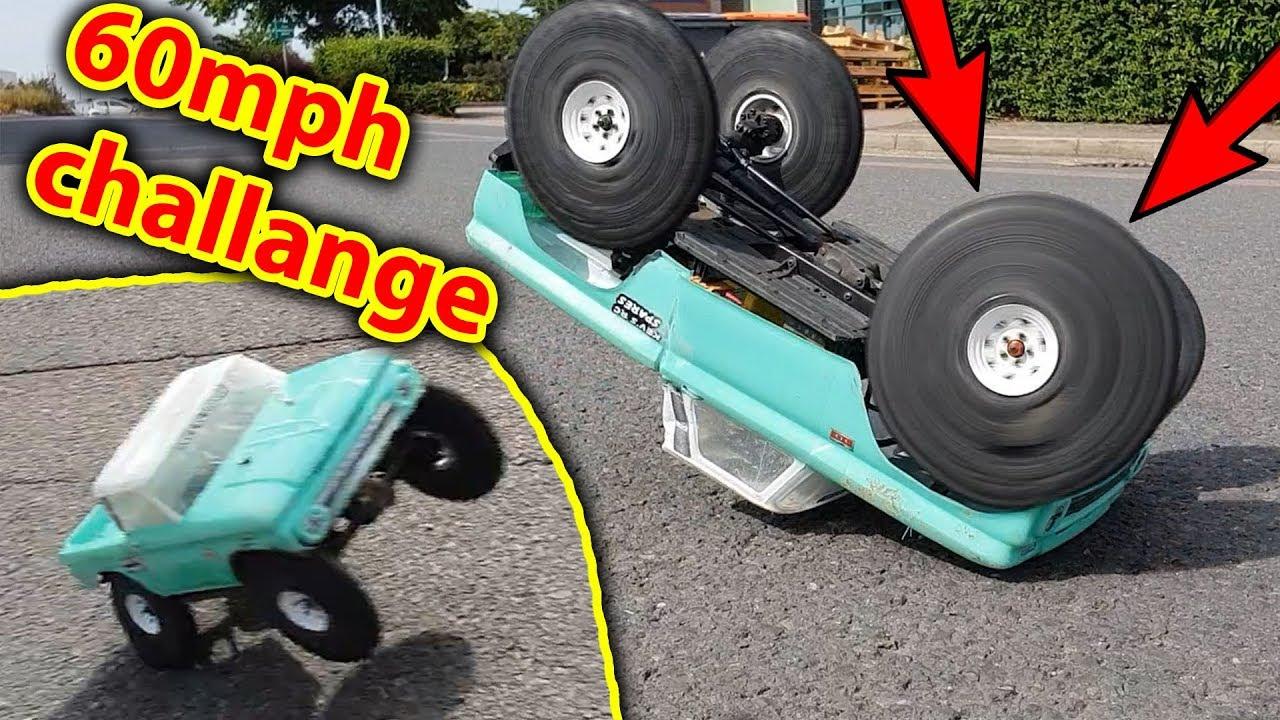 6s 3800kv Traxxas TRX-4 RC Crawler 60mph Challenge - CRASH!!!!