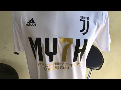 e66bdf1da Kaos Juventus MY7H juara liga italia 2018 Warna Putih - YouTube