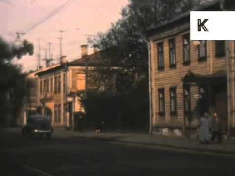 1950s Moscow, Street Scenes, Stadium, Russia Colour Archive Footage USSR