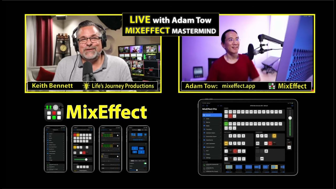 MixEffect application Interview with Adam Tow, the Mastermind behind the magic.