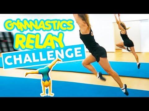 Gymnastics Relay Challenge | The Rybka Twins