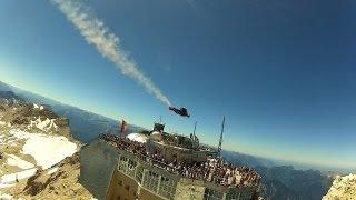 Best Wingsuit Flyby Zugspitze, Germany