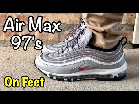 Cheap Nike Air Max 97 Silver Red River, Atchafalya & Bayou