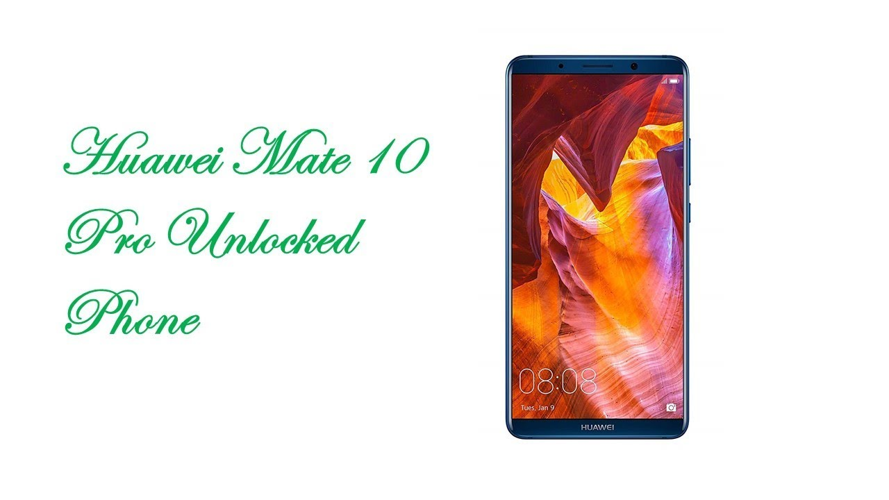 HUAWEI Mate 10 Pro | Android Phone |Midnight Blue (US