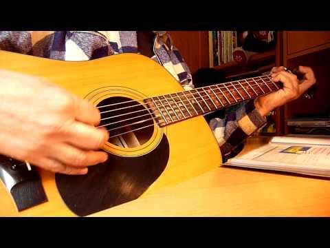 johnny  hallyday  - j-ai oubli de vivre -  cover et leon de guitare