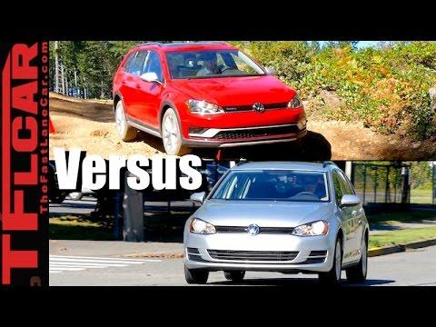 New 2017 VW Golf Sportwagen 4Motion vs Golf Alltrack Mashup Review