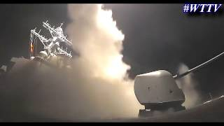 US Military Tomahawk Missiles Launching From USS Porter